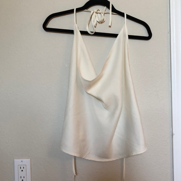 ANGL Tops - White tie backless top